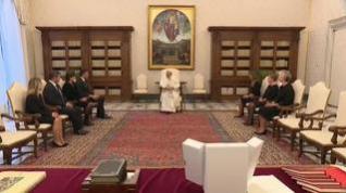 Pedro Sánchez y el papa Francisco se reúnen en el Vaticano