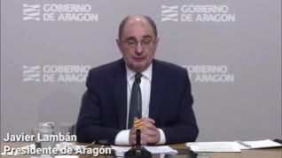 Lambán decreta el confinamiento perimetral de todo Aragón durante, al menos, 15 días