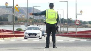 Imágenes de los controles de la Guardia Civil en las carreteras aragonesas