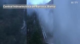 Revienta una tubería de la Central hidroeléctrica de Barrosa (Bielsa)