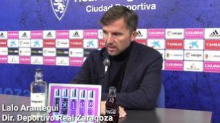 Lalo Arantegui confirma a Iván Martínez como entrenador del Real Zaragoza