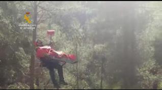 Rescatan a un escalador accidentado en una zona de difícil acceso en Olba