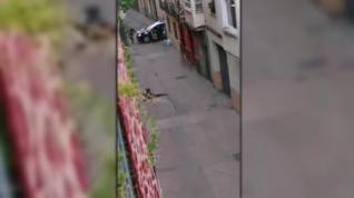 Herido de bala tras encañonar a dos policías y recibir un disparo en la pierna