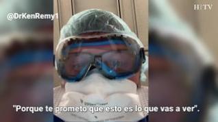 Un médico simula en un vídeo lo que ven los pacientes antes de morir de covid