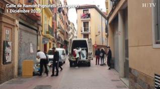 Desalojan una vivienda okupada en la calle Pignatelli de Zaragoza