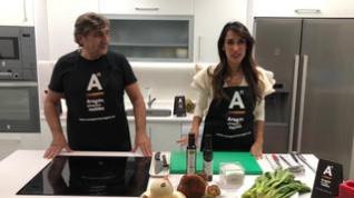 Cocina con Segarra: Borraja con boletus, cebolla de Fuentes y aceite de oliva Virgen Extra