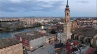 La Navidad en Zaragoza desde el aire