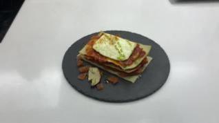 Cocina con Segarra: Lasaña de jamón de Teruel, boletus y queso fresco de Ejulve