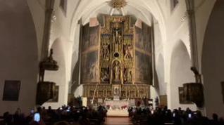 Las puertas del retablo mayor de San Pablo vuelven a abrirse por Navidad