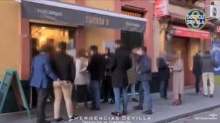 Desalojan un bar en Sevilla que tenía el doble del aforo permitido