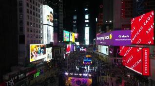 Nueva York recibe el 2021 con un Times Square casi desierto