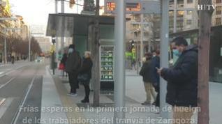 Comienza la huelga en el tranvía de Zaragoza