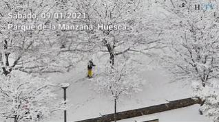 Con esquís por Huesca