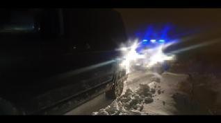 Rescate de un vehículo atrapado en la nieve