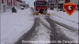 Intervención de los Bomberos de la DPZ en El Buste