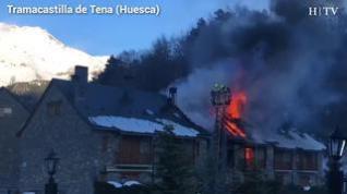 Incendio en Tramacastilla de Tena