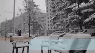 Roberto Ciria acompaña con una jota la imágenes más amables de la borrasca de nieve Filomena