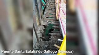 Cerrado el puente de Santa Eulalia de Gállego por el inicio de las obras de mejora