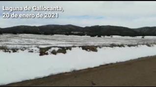 La Laguna de Gallocanta, en la provincia de Zaragoza, nevada