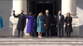 Joe Biden y Kamala Harris llegan al Capitolio