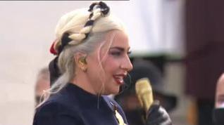 Lady Gaga actúa en la investidura de Joe Biden