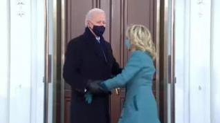 Primera noche de Biden en la Casa Blanca con protestas