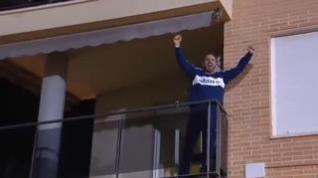 Celebración por todo lo alto de los aficionados del Alcoyano