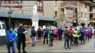 Benasque se suma a las protestas por el cierre del turismo en el Pirineo