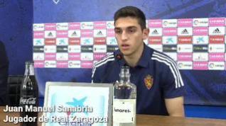 """Sanabria, nuevo jugador del Real Zaragoza: """"Rubén Sosa, Poyet... espero no ser menos que ellos"""""""
