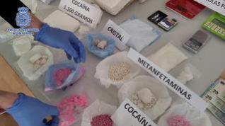 La Policía incauta por primera vez en Zaragoza 'tusi', la conocida como cocaína rosa