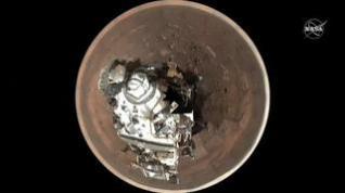 Marte visto desde la atalaya que lleva el Perseverance