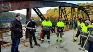 El puente de Santa Eulalia de Gállego se reabre tras un mes de obras