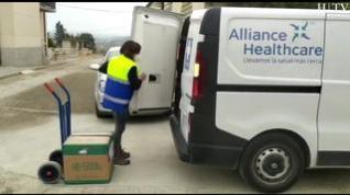 Vacunas: La esperanza viaja en furgoneta por Aragón