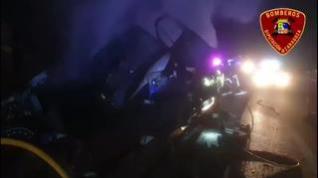 Heridas cuatro personas en un accidente en la A-2, a la altura de Bubierca (Zaragoza)