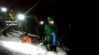 Rescate de una esquiadora en el Aneto