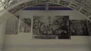Así eran las pinturas murales de Sijena antes del incendio de 1936