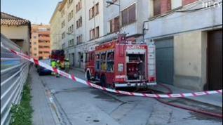 Un incendio en un piso obliga a desalojar a 20 inquilinos de un inmueble en Barbastro