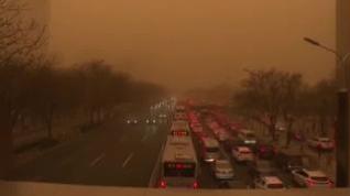 Una tormenta de arena sepulta Pekín