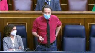 """Iglesias a García Egea: """"¿Ha puesto usted la pasta o se la ha dado algún constructor?"""