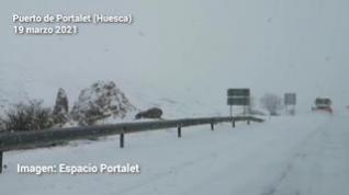 La nieve regresa al Pirineo