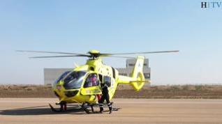 El helicóptero 112 de Aragón, un verdadero salvavidas