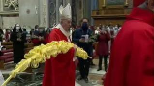 El papa Francisco oficia la misa del Domingo de Ramos con apenas 120 asistentes