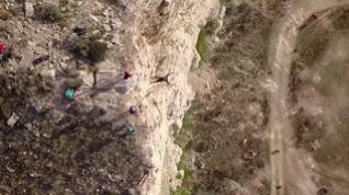 De Muel al vacío: un salto de 40 metros a 70 kilómetros por hora en una antigua cantera