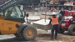 Avanzan las obras de la plaza de Salamero de Zaragoza