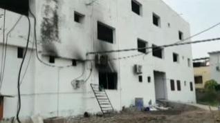Mueren 16 personas en el incendio de un hospital para pacientes covid en la India