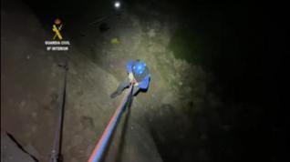 Rescatan a una escaladora en Murillo tras varias horas colgada a 15 metros del suelo