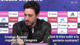 """Cristian Álvarez: """"Ojalá mi gol sirva y sea un chute de ilusión para lo que nos queda"""""""