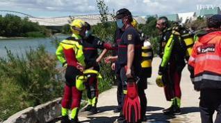 Siguen las labores de búsqueda del joven Alkarim en el río Ebro