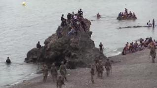 La playa de El Tarajal, zona cero de la crisis migratoria de Ceuta