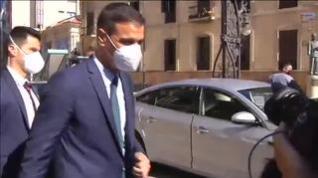 """Gritos de """"dimisión"""" y abucheos a Pedro Sánchez a su llegada a Ceuta"""